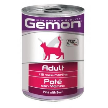 Gemon / Гемон Cat консервы для кошек паштет говядина 400 г