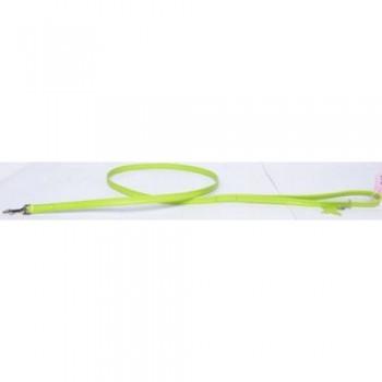 CoLLaR Glamour Поводок кожаный, двойной прошитый без украшений, 122см*12мм, зеленый (33725)