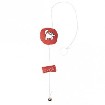 Karlie-Flamingo / Карли Фламинго Игрушка д/кошек Simons Cat 6*6*2см , красная