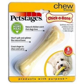 Petstages / Петстейджес игрушка для собак Chick-A-Bone косточка с ароматом курицы 11 см малая