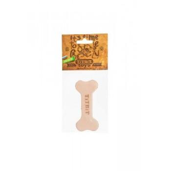 TitBit / ТитБит Игрушка Косточка 10 см из кожи