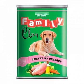 Clan / Клан Family консервы д/собак паштет из индейки, 0,415 кг