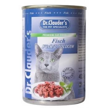 Dr.Clauder's / Др.Клаудер'c кон.д/кошек Кусочки в соусе Рыба/лосось 415гр