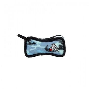 Tuffy / Таффи Супер-прочная игрушка для собак Кость, широкая, голубой камуфляж, прочность 8/10