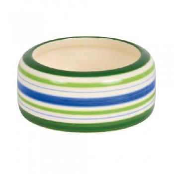 Trixie / Трикси 60805 Миска д/хомяка 50мл/8см керамика зеленые полоски