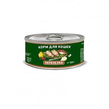 Solid Natura / Солид Натур Перепёлка влажный корм для кошек жестяная банка 0,1 кг