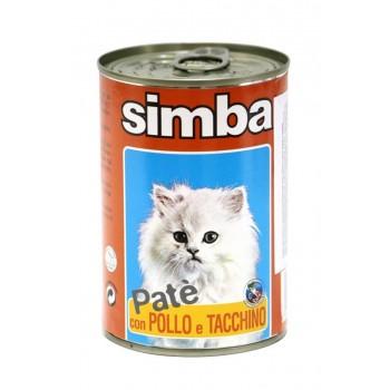 Simba / Симба Cat консервы для кошек паштет курица и индейкой 400 г