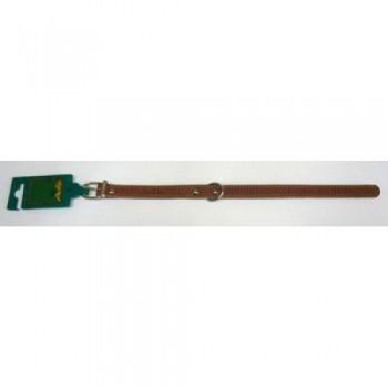 Аркон Ошейник кожаный 16п, размер 26-34 см x 16 мм, цвет коньячный, о16пк, один слой кожи, с подкладом из мягкой ткани, украшенный декоративной строчкой (32439)