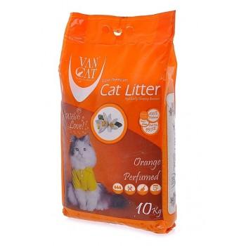 Van Cat Комкующийся Наполнитель без пыли с ароматом Апельсина, пакет (Orange) 5 кг