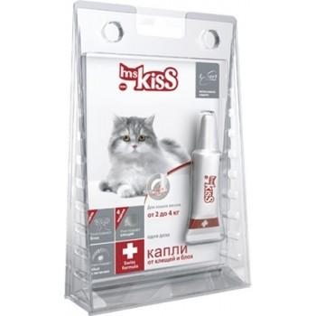 Ms.Kiss / М. Кисс Капли инсектоакарицидные д/кошек весом от 2 до 4кг 0,5мл
