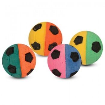 """Triol / Триол Игрушка для кошек """"Мяч футбольный"""", разноцветный, d40мм (уп.4шт.)"""