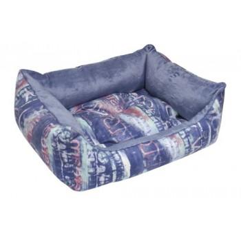 Зооник Лежанка-диван (микровелюр+вельбо) 450*520*170, Мегаполис