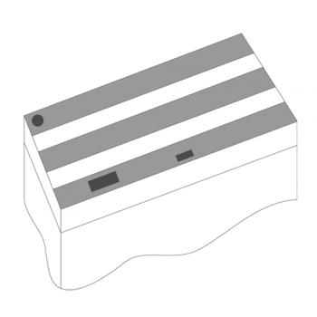 Juwel / Ювель Комплект пластиковых крышек 100х50см 3шт черный