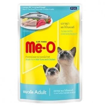 Ме-О Adult пауч д/кошек №6 Тунец и курица в желе 80г 83801
