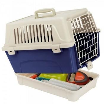 FERPLAST / ФЕРПЛАСТ Переноска ATLAS 10 ORGANIZER (с поддоном для аксессуаров) для кошек и собак