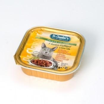 Dr.Clauder's / Др.Клаудер'c кон.д/кошек 3 вида птицы 100гр
