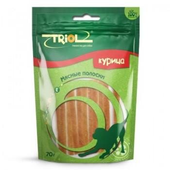 Triol / Триол Мясные полоски из курицы для собак, 70г