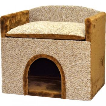 Зооник Будка для собак с лежанкой, средняя (585х390х530)