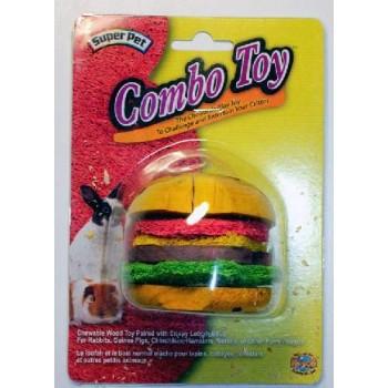 """Super Pet Игрушка д/грыз. комбин. """"Гамбургер"""", дерево/мочало 62041"""
