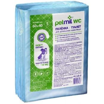 Петмил Пеленка впитывающая одноразовая с суперабсорбентом 60*40*10шт