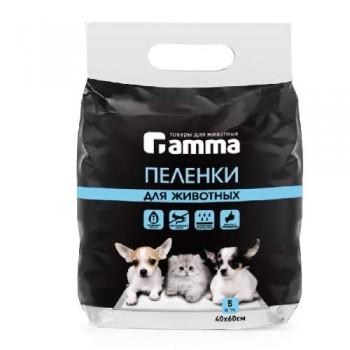 Gamma / Гамма Пеленки для животных, 400*600мм (уп.5шт.)