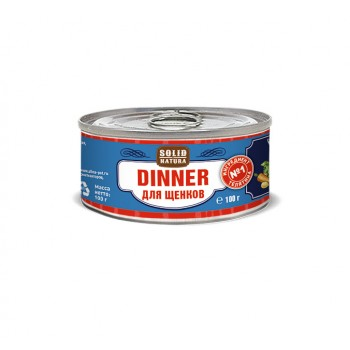 Solid Natura Dinner / Солид Натур Диннер Телятина влажный корм для щенков жестяная банка 0,1 кг