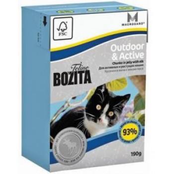 Bozita / Бозита Tetra Pak Funktion Outdoor& Active кусочки Лося в желе д/Активных кошек 190гр