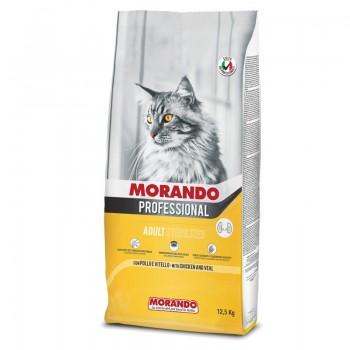 Morando / Морандо Professional Gatto сухой корм для стерилизованных кошек с курицей и телятиной, 12,5 кг