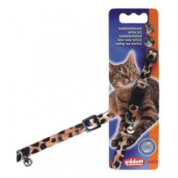 Nobby / Нобби Ошейник д/кошек Леопард (бубенчик, безопасн.замок) (1х3) 78072