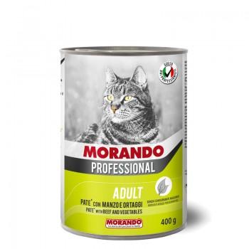Morando / Морандо Professional консервированный корм для кошек паштет с говядиной и овощами, 400г, жб