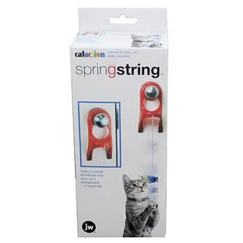 JW Игрушка д/кошек - Мышка на резинке, пластик (крепиться на дверную ручку), Spring String (71045)