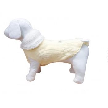 """Ferribiella / Феррибиэлла свитер с тёплым воротом """"Маглия""""(нежно-желтый) на длину 27 см"""