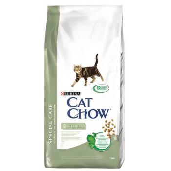 """Cat Chow / Кэт Чоу """"Special Care"""" сухой 15 кг для кошек Кастрированных и Стерилизованных"""