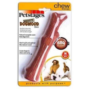 Petstages / Петстейджес игрушка для собак Mesquite Dogwood с ароматом барбекю 18 см средняя
