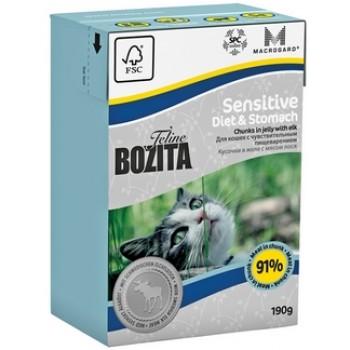 Bozita / Бозита Tetra Pak Funktion Sensitive Diet&Stomah кусочки Лося в желе д/кошек с чувствительным пищеварением 190гр