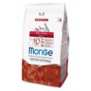 Monge / Монж Dog Speciality Mini корм для взрослых собак мелких пород ягненок с рисом и картофелем 2,5 кг