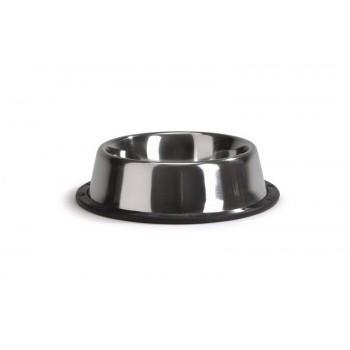 Beeztees / Бизтис 640430 Миска стальная хромированная нескользящая 300мл*13см