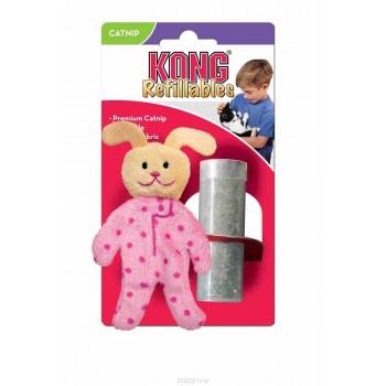"""Kong / Конг игрушка для кошек """"Кролик в пижаме"""" текстиль с тубом кошачьей мяты"""