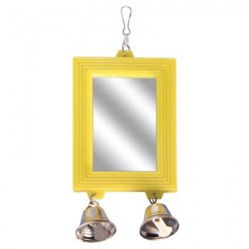 "Triol / Триол Игрушка для птиц - зеркало ""Колокольчики"", 80*175мм"