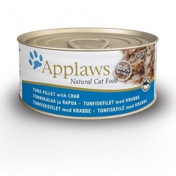 Applaws / Эпплаус Консервы для кошек с Тунцом и Крабовым мясом 0,07 кг