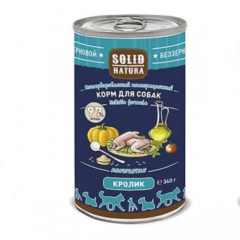 Solid Natura / Солид Натур Кролик влажный корм для собак жестяная банка 0,34 кг