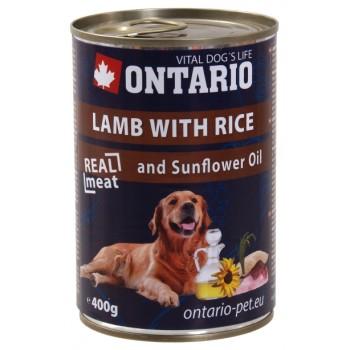 Ontario / Онтарио Консервы для собак: ягненок и рис 0,4 кг