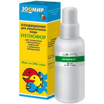 `Ихтиофор` подавление ихтиофтириаза 50 мл (1х10) 2597 (Зоомир)