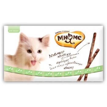 Мнямс лакомые палочки 13,5 см для кошек с уткой и кроликом 10х5 г