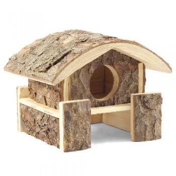 Gamma / Гамма Домик на помосте для мелких животных из неокоренного дерева, 150*145*140мм