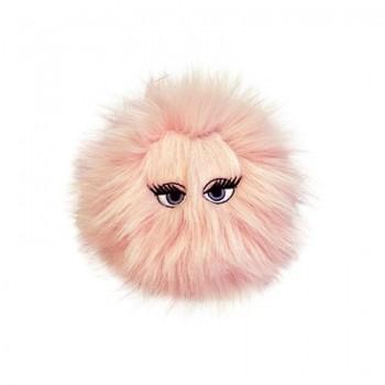 Silly Squeakers Игрушка-пищалка для собак Пушистый мяч с глазами средний, розовый (iBall Medium Pink) SS-IB-M-PK