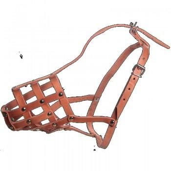 Зооник 12112 Намордник кожаный №3 (колли) Р