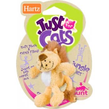 Hartz / Хартц Игрушка д/кошек - Африканская кошка с колокольчиком, мягкая Jungle Cats Cat Toy