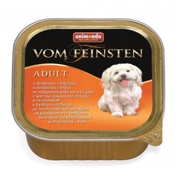 Animonda Vom Feinsten Classic конс. 150 гр. Домашняя птица / телятина для собак (ламистер) 82964 (82610)