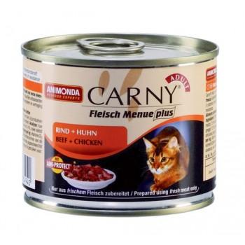 Animonda Carny Adult конс. 200 гр. с говядиной и курицей для взрослых кошек 83494-83551